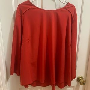 Red Investments blouse. 3x